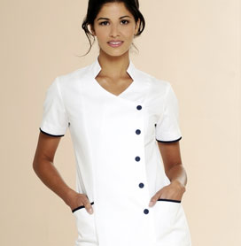 Beauty uniforms tunics spa uniforms salon wear for Spa uniform tunic